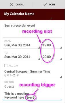 JG Secret Recorder apk screenshot