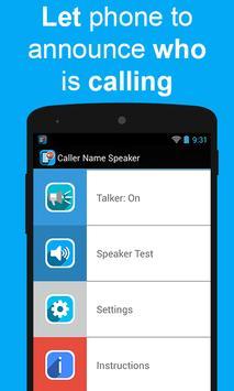 Caller Name Speaker poster