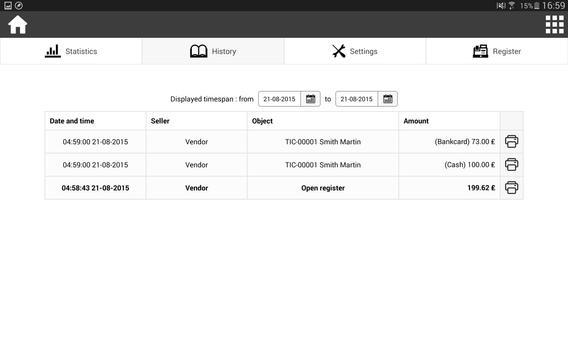 RoverCash, Cash Register apk screenshot