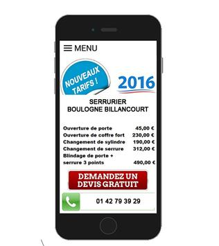 SERRURIER Boulogne Billancourt poster