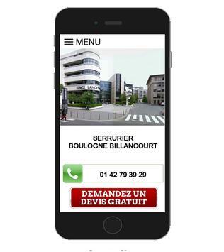 SERRURIER Boulogne Billancourt apk screenshot
