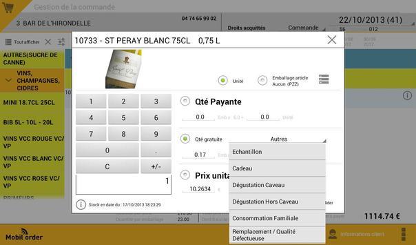 Mobil'Order version démo apk screenshot