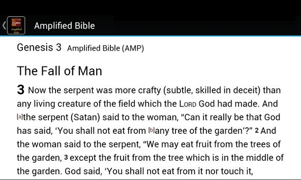 The Amplified Bible apk screenshot