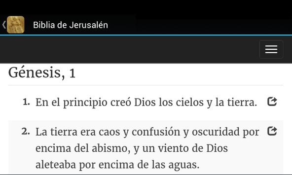 Biblia de Jerusalén apk screenshot