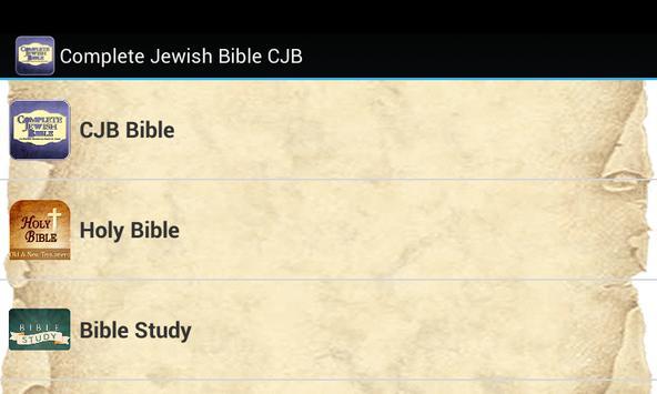Complete Jewish Bible CJB poster