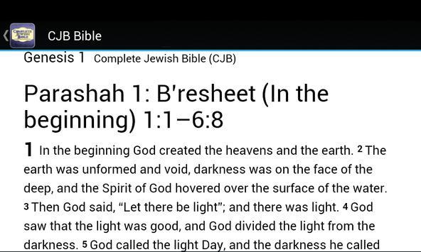 Complete Jewish Bible CJB apk screenshot
