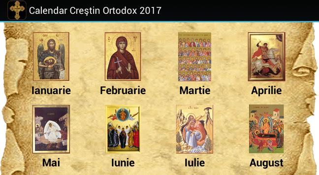 Calendar Creştin Ortodox 2017 poster