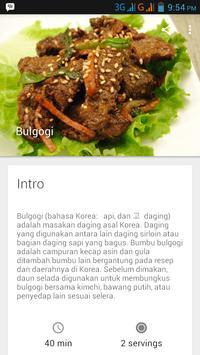Buku Resep Masakan Korea apk screenshot