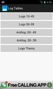Logarithm Tables - Maths poster