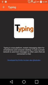 Typing apk screenshot