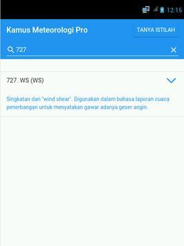 Kamus Meteorologi Pro apk screenshot