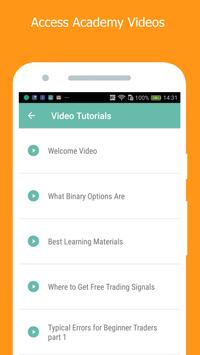 Binary Options Academy apk screenshot