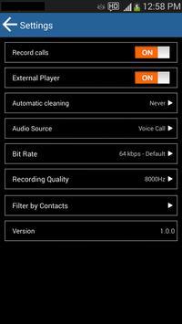 MP3 Call Recorder apk screenshot