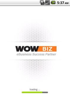 wowbiz mobile homepage poster