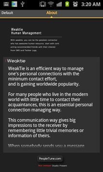 WeakTie Connect apk screenshot