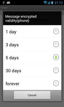 Hide call SMS history Hider apk screenshot