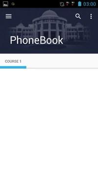 PhoneBook NU Student apk screenshot