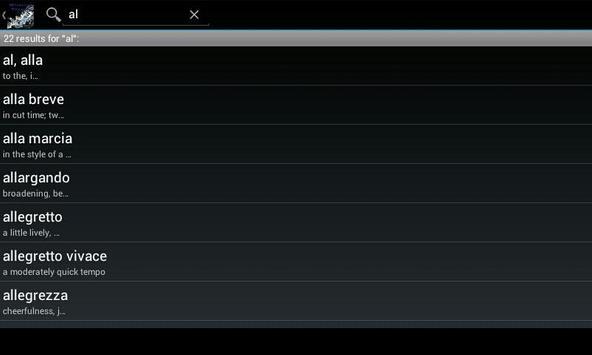 Musical Terms apk screenshot