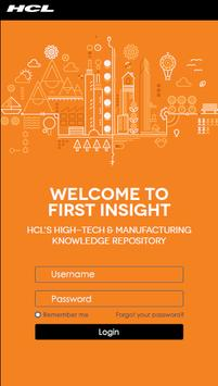 HCL First Insight poster