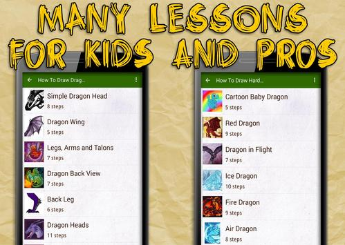How To Draw Dragons apk screenshot