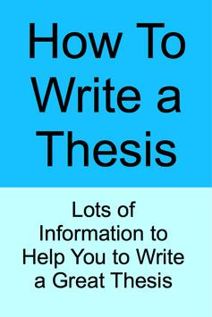 How To Write a Thesis poster