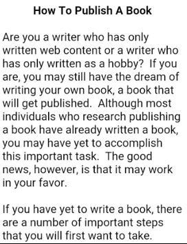 How To Write a Book apk screenshot