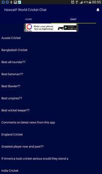 Howzat!! World Cricket Chat apk screenshot