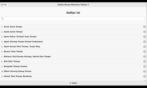 Aneka Resep Masakan Tempe 2 apk screenshot