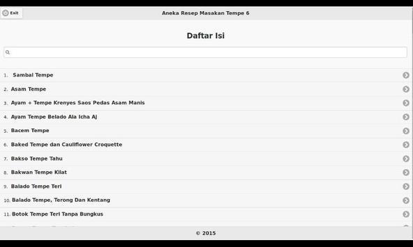 Aneka Resep Masakan Tempe 6 apk screenshot