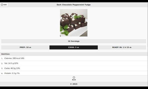 Chocolate Recipes 5 apk screenshot