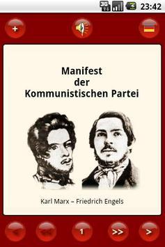 Manifesto of Communist Party poster