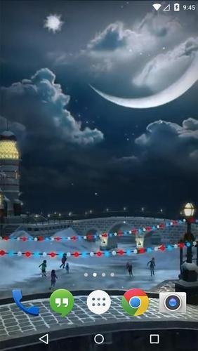 snow village 3d live wallpaper apk download free personalization app
