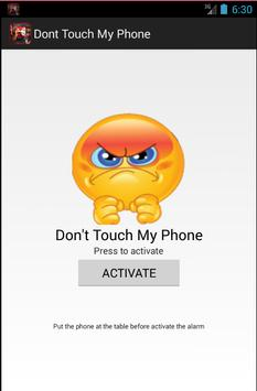 dont touch my phone poster