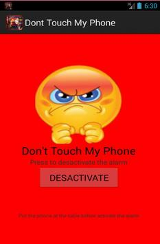 dont touch my phone apk screenshot