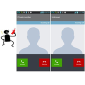 Hide Phone Number Caller ID icon
