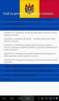 Codul ştiinţă şi inovare al RM apk screenshot