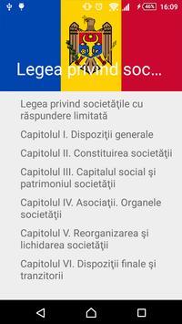 Legea privind SRL poster