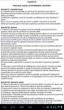 Legea privind SRL apk screenshot