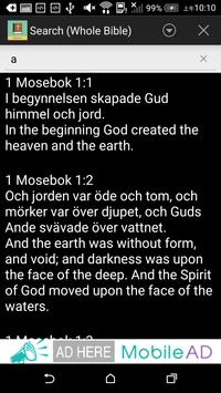 Swedish English Bible apk screenshot