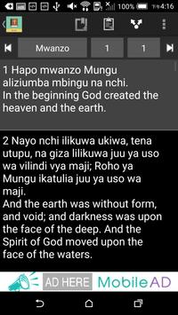 Swahili English Bible apk screenshot