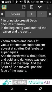 Latin English Bible apk screenshot