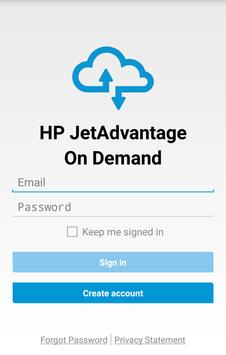 HP JetAdvantage On Demand poster
