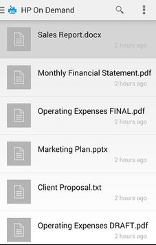 HP JetAdvantage On Demand apk screenshot
