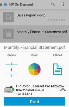 HP JetAdvantage On Demand apk screenshot