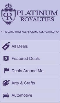 Platinum Royalties Deal Card poster