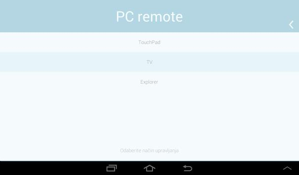 PC remote apk screenshot