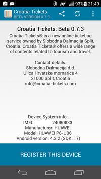 Croatia Tickets apk screenshot