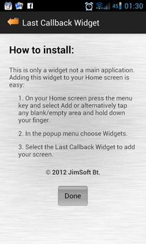 Last Callback Widget apk screenshot