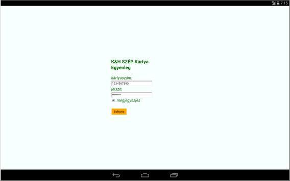 K&H SZÉP Kártya apk screenshot