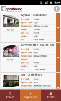 Openhouse Ingatlan apk screenshot